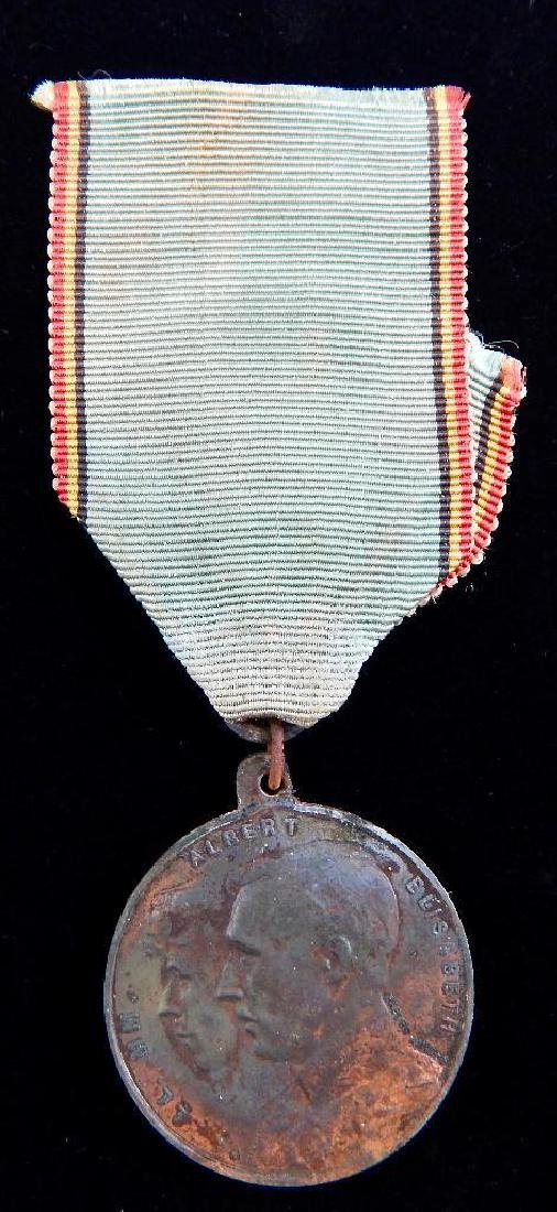 Group of 5 WWI - 1930's Belgian Medals - 2