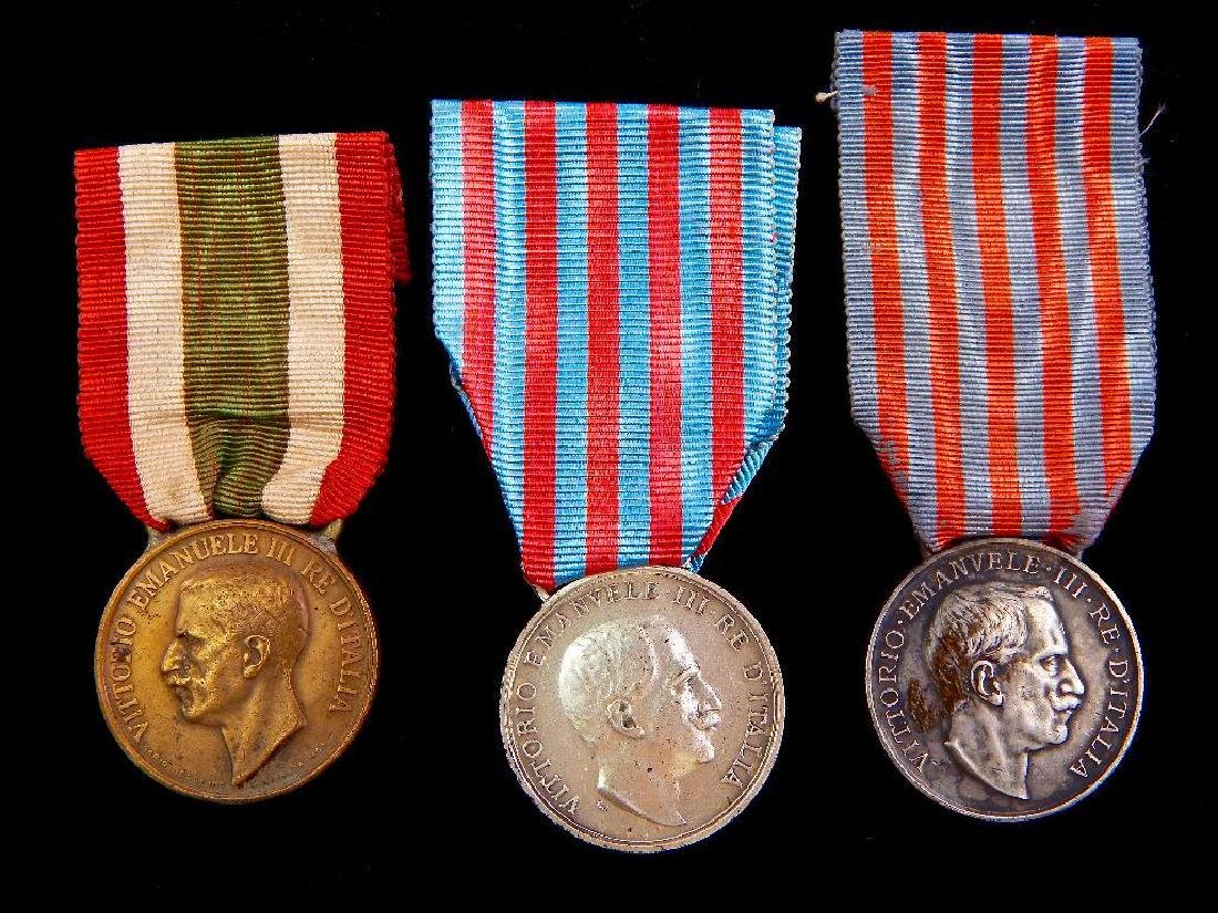Group of 3 Pre-WW2 Italian Medals