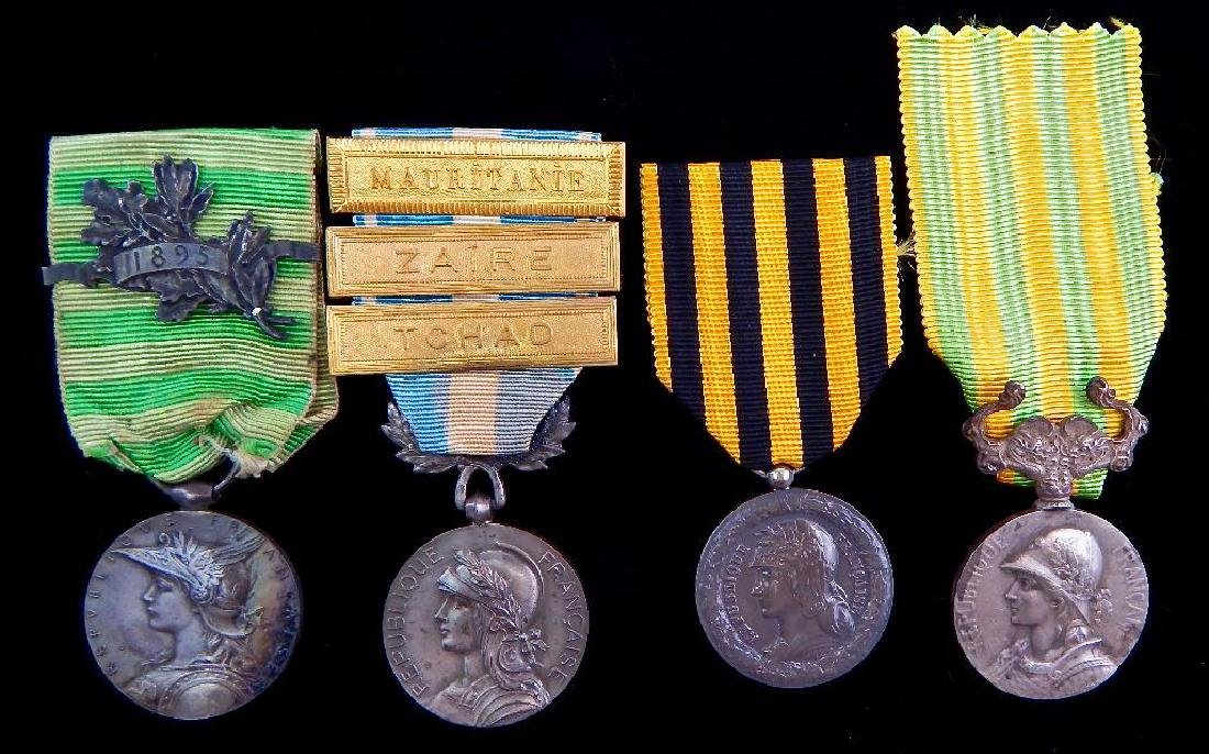 Group of 4 French Campaign Meda