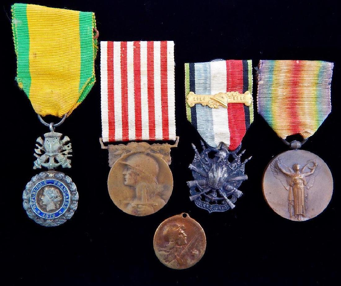 Group ofÊ5 WWI French Medals