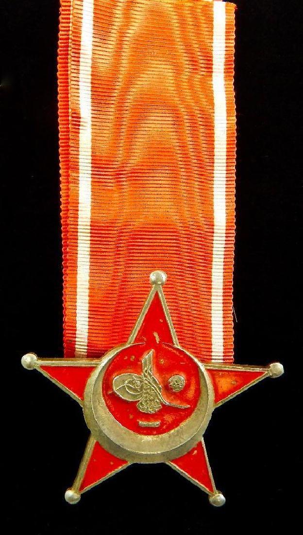 WWI Turkish Gallipoli Star and Buttonhole Ribbon