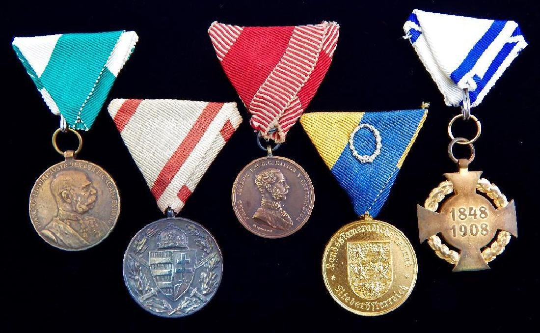 Group of 5 Imperial Austrian Medals