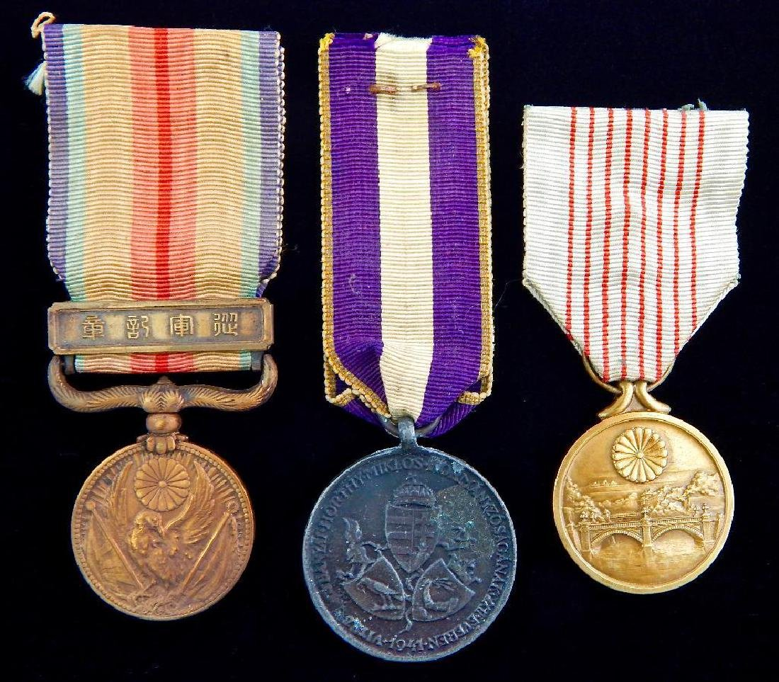 Group of 3 Japanese Medals