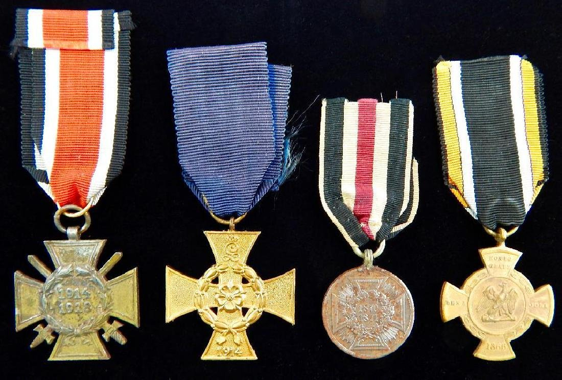 Group of 4 WWI and Pre-WWI German Medals