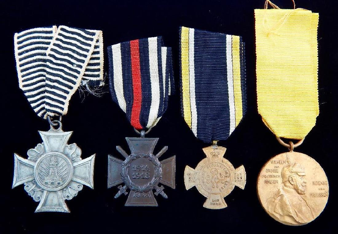 Group of 4 Imperial German Medals