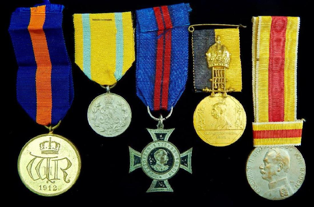Group of 5 Imperial German Medals