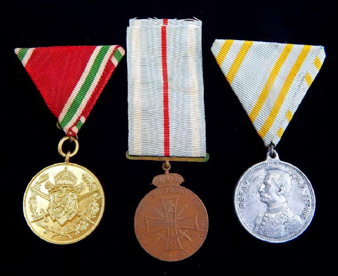 Group of 3 WWI Balkan Countries Medals