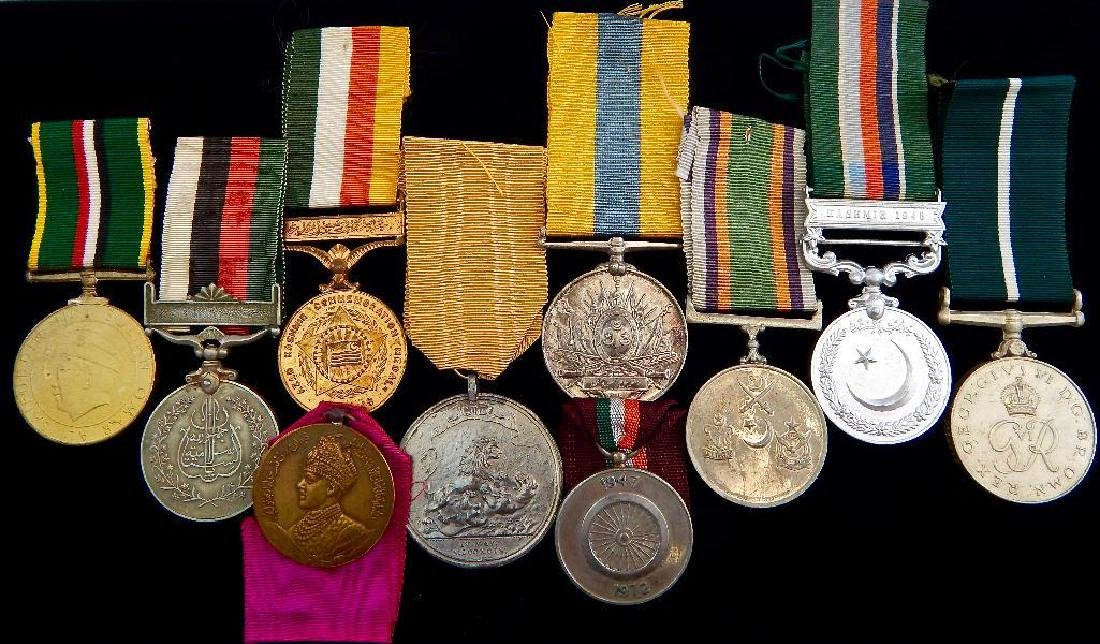 Group of 10 India and Pakistan Medals