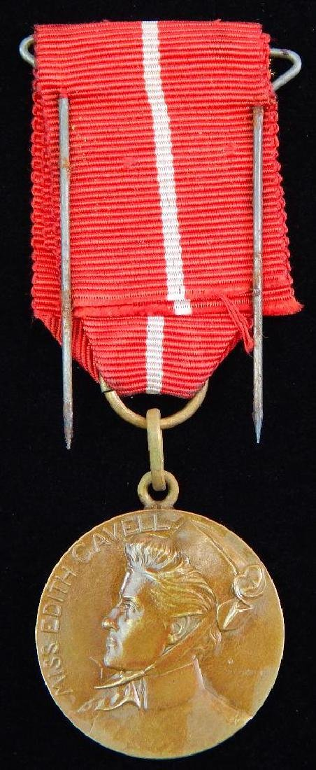 Rare WWI Edith Cavell Medal - 2