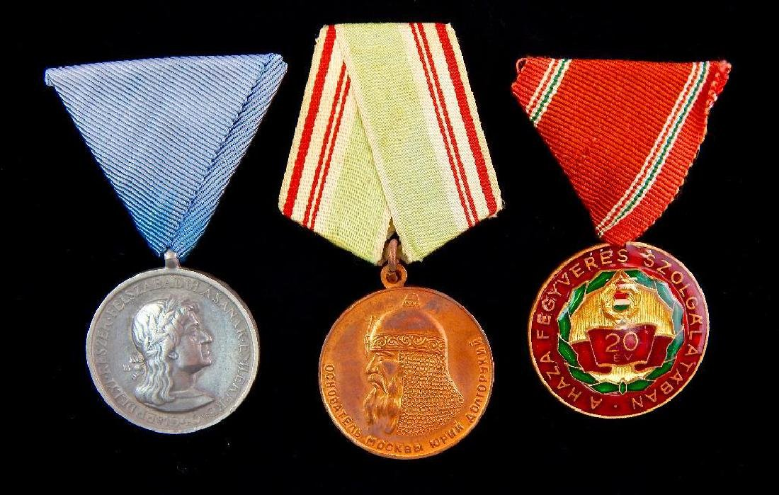 Group of 3 Hungarian Medals