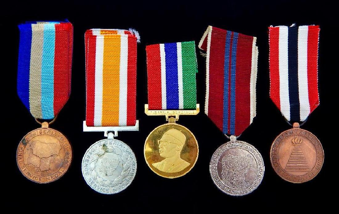 Group of 5 African Medals