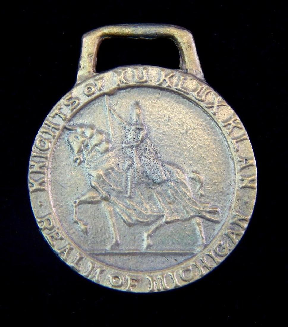 Knights of Ku Klux Klan Realm of Michigan Medal - 2