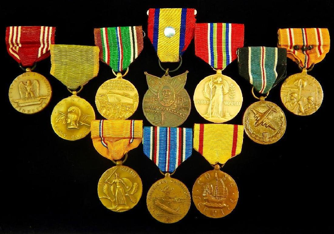 Large WW2 Era U.S. Medal Group