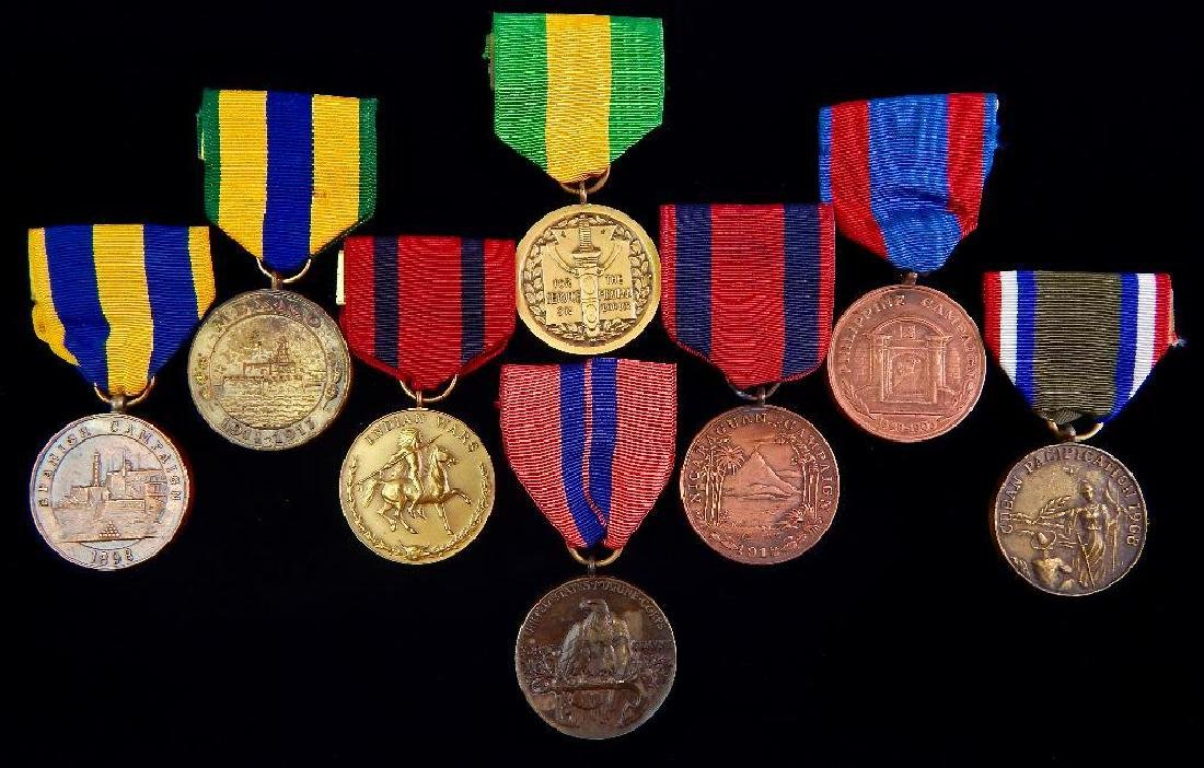 Group of 8 Restrikes of Early U.S. Campaign Medals
