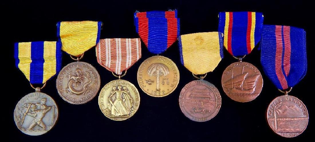 Group of 7 Restrikes of U.S. Campaign Medals