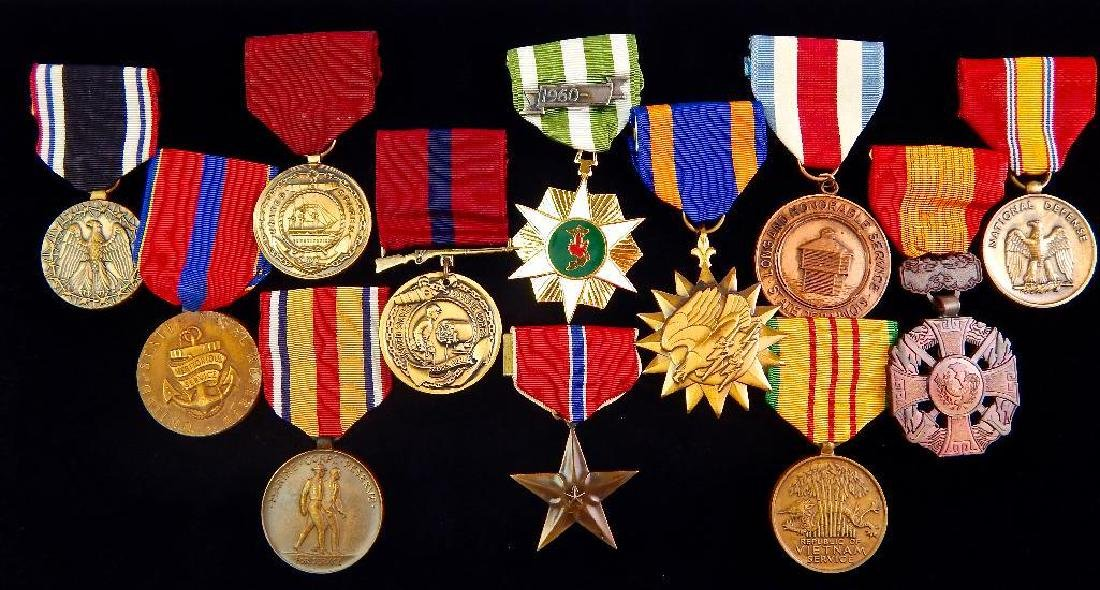 Group of 12 U.S. Vietnam Medals