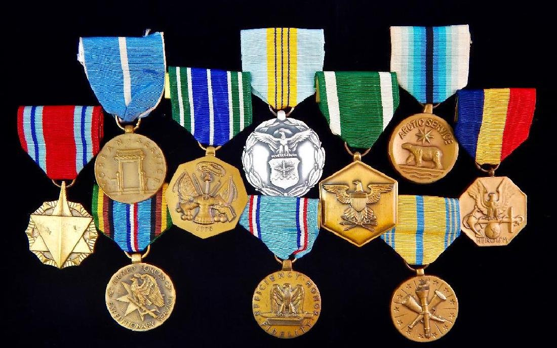 Group of 10 Assorted U.S. Medals