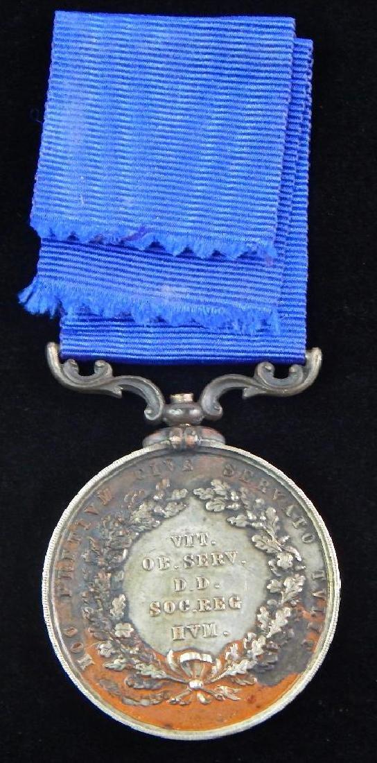 British Humane Society Silver Lifesaving Medal - 3