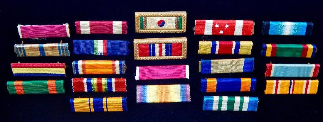 Assortment of 22 U.S. Military Ribbon Bars