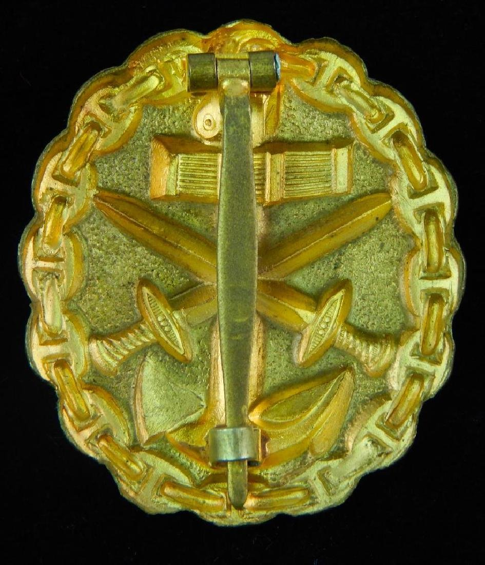 German WWi/WW2 Navy Gold Wound Badge - 2