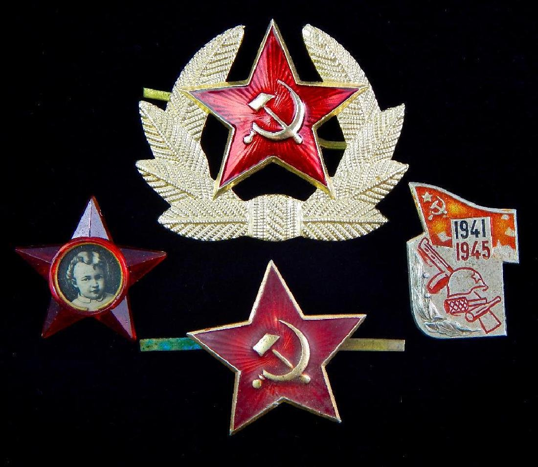 Group of 4 Russian Pins/Badges