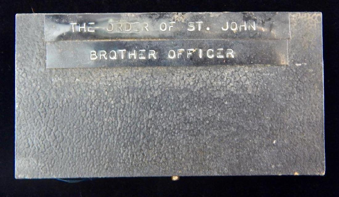 Case for British Order of St. John Brother Officer