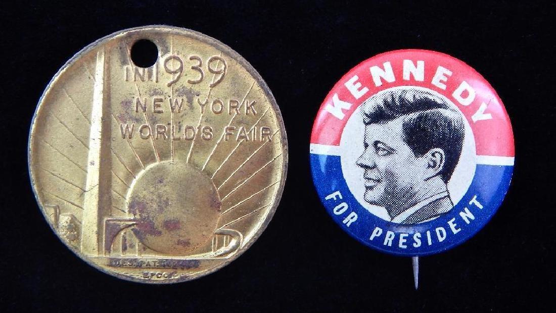 1939 New York World's Fair Medallion and JFK Election