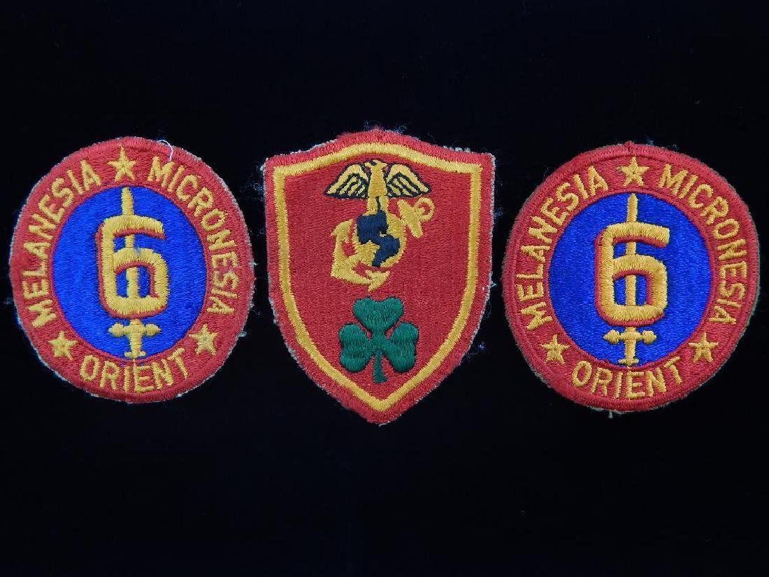 Group of 3 WW2 USMC Patches