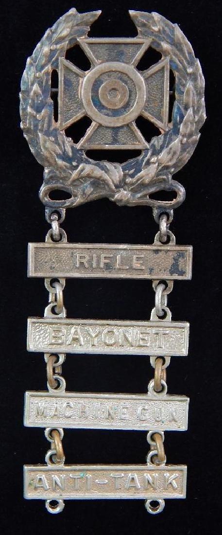 WW2 U.S. Army Expert Shooting Badge : Sterling Silver