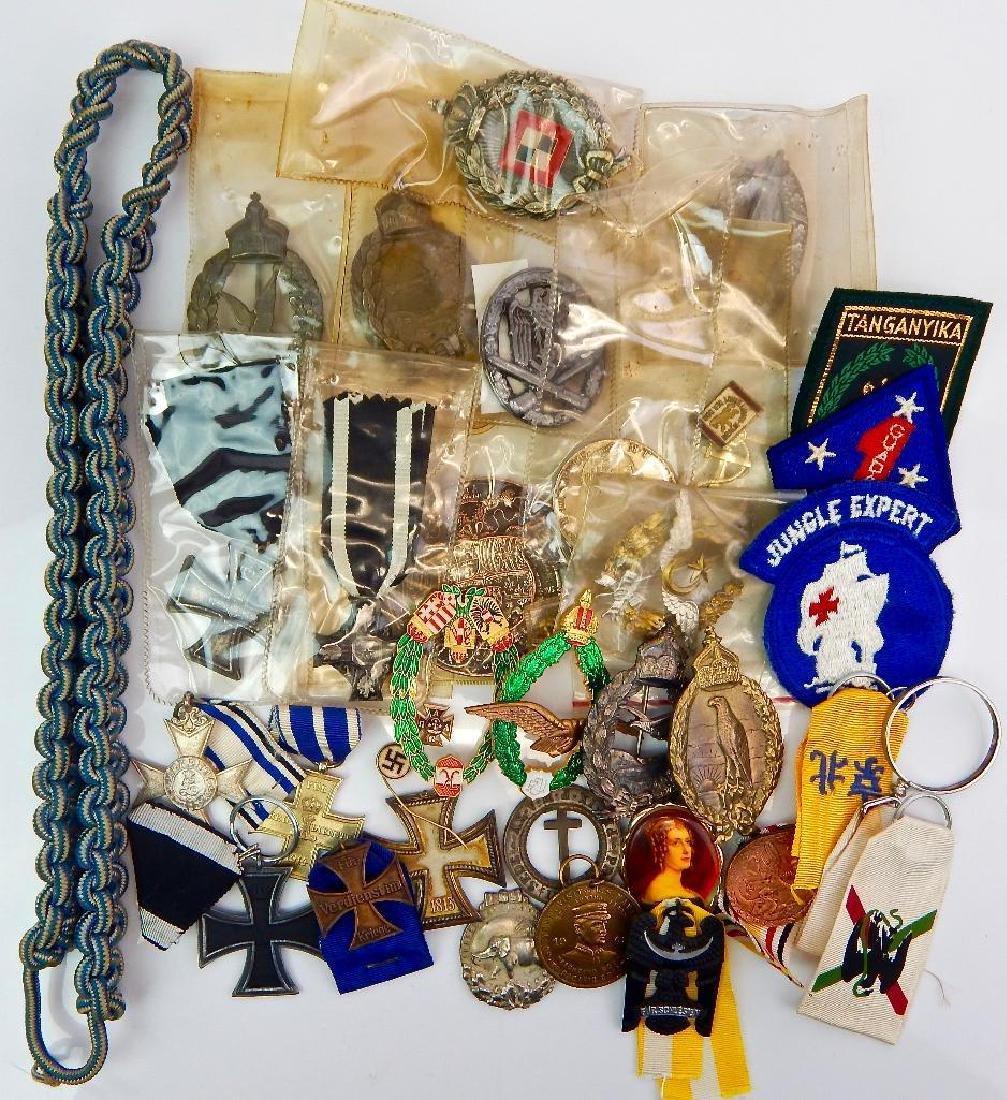 Large Lot Copy U.S. and German Medals/Badges