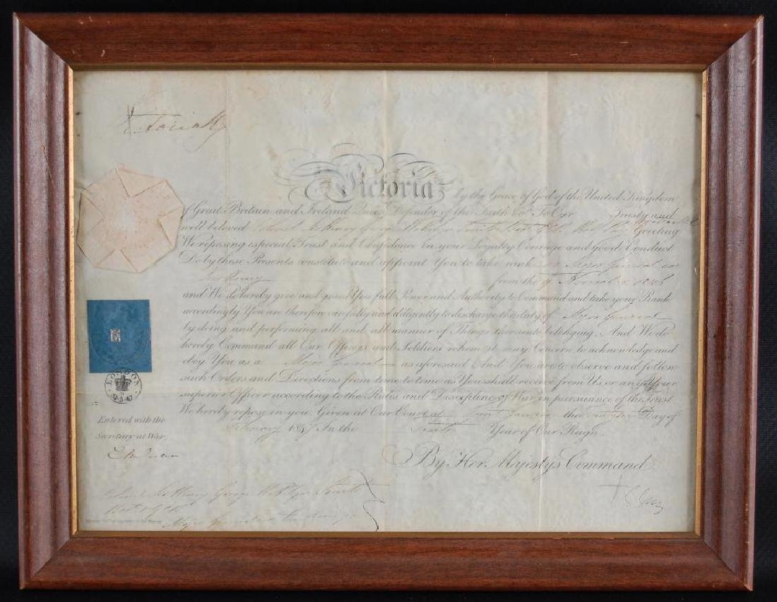 Signed Queen Victoria 1847 Promotion Document
