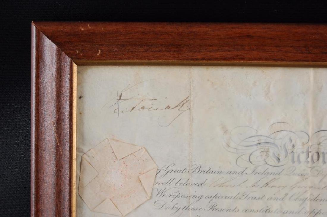 Signed Queen Victoria 1847 Promotion Document - 4