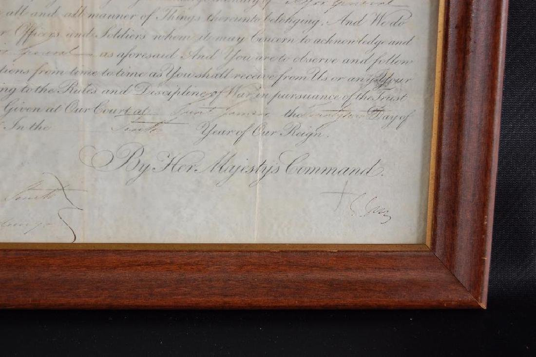 Signed Queen Victoria 1847 Promotion Document - 5