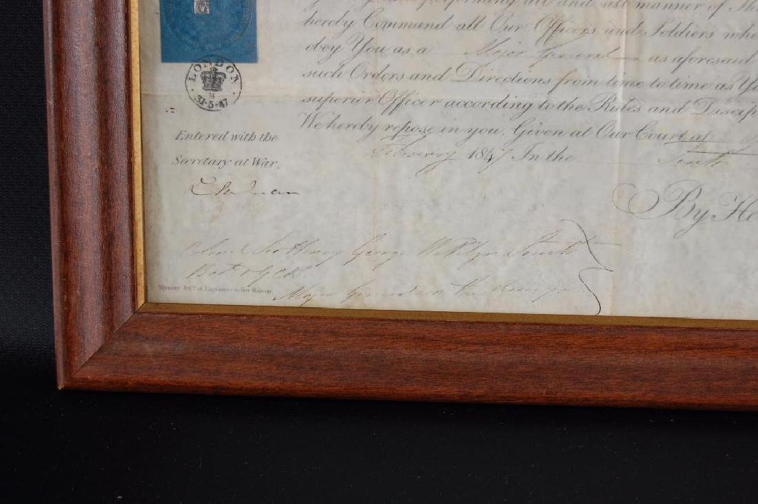 Signed Queen Victoria 1847 Promotion Document - 6