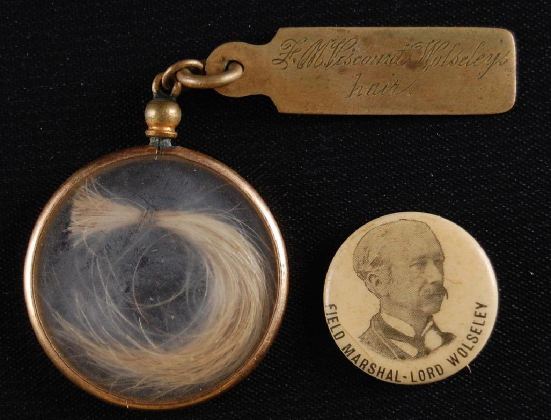 Locket of Hair from Lord M. Viscount Wolsely and
