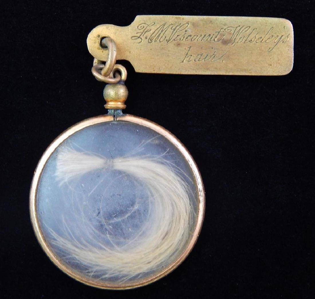 Locket of Hair from Lord M. Viscount Wolsely and - 4