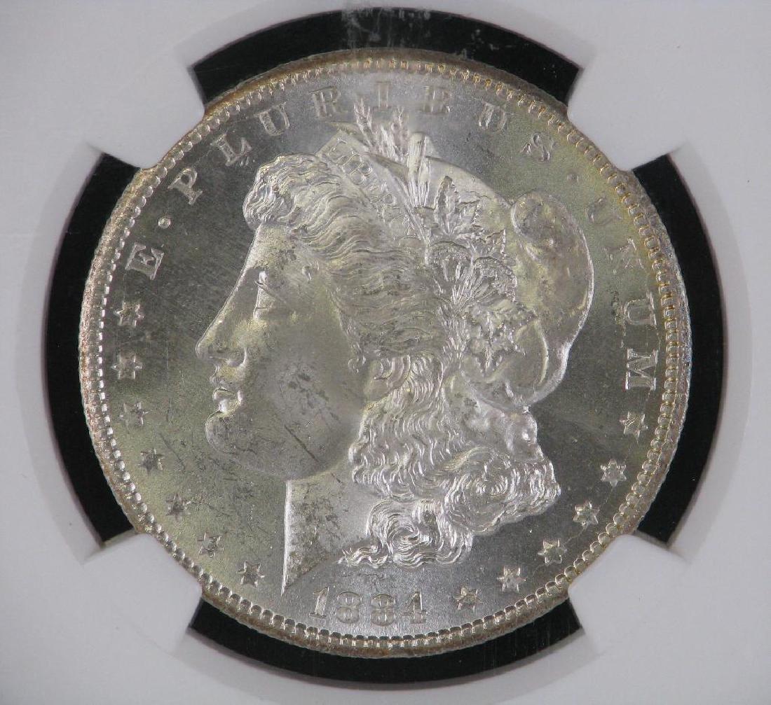 1884-CC Morgan Dollar NGC MS63 - 3