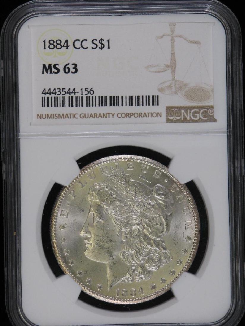 1884-CC Morgan Dollar NGC MS63