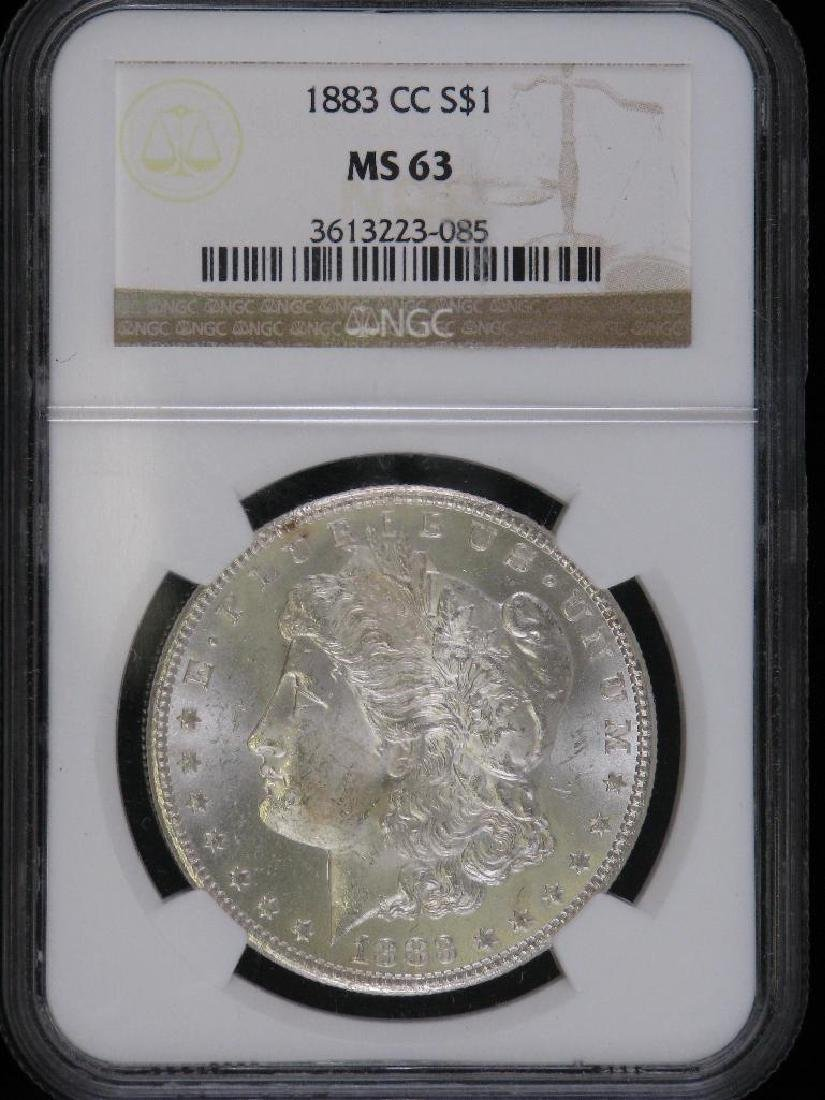 1883-CC Morgan Dollar NGC MS63