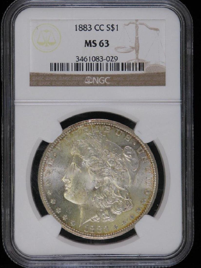 1883-CC Morgan Dollar NGC MS63