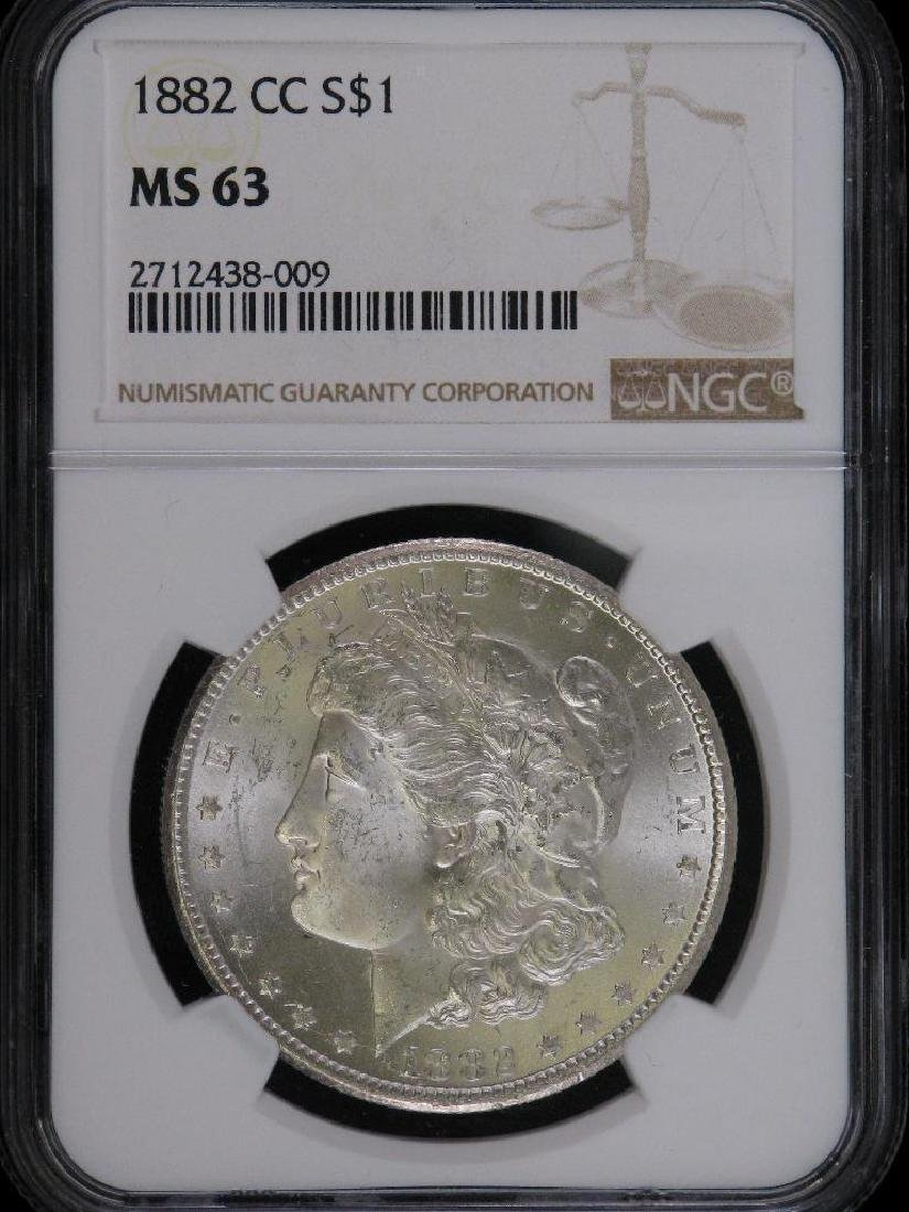 1882-CC Morgan Dollar NGC MS63