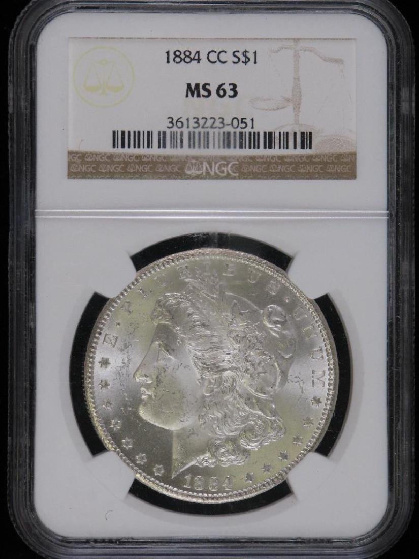 1884-CC Morgan Dollar NGC MS63
