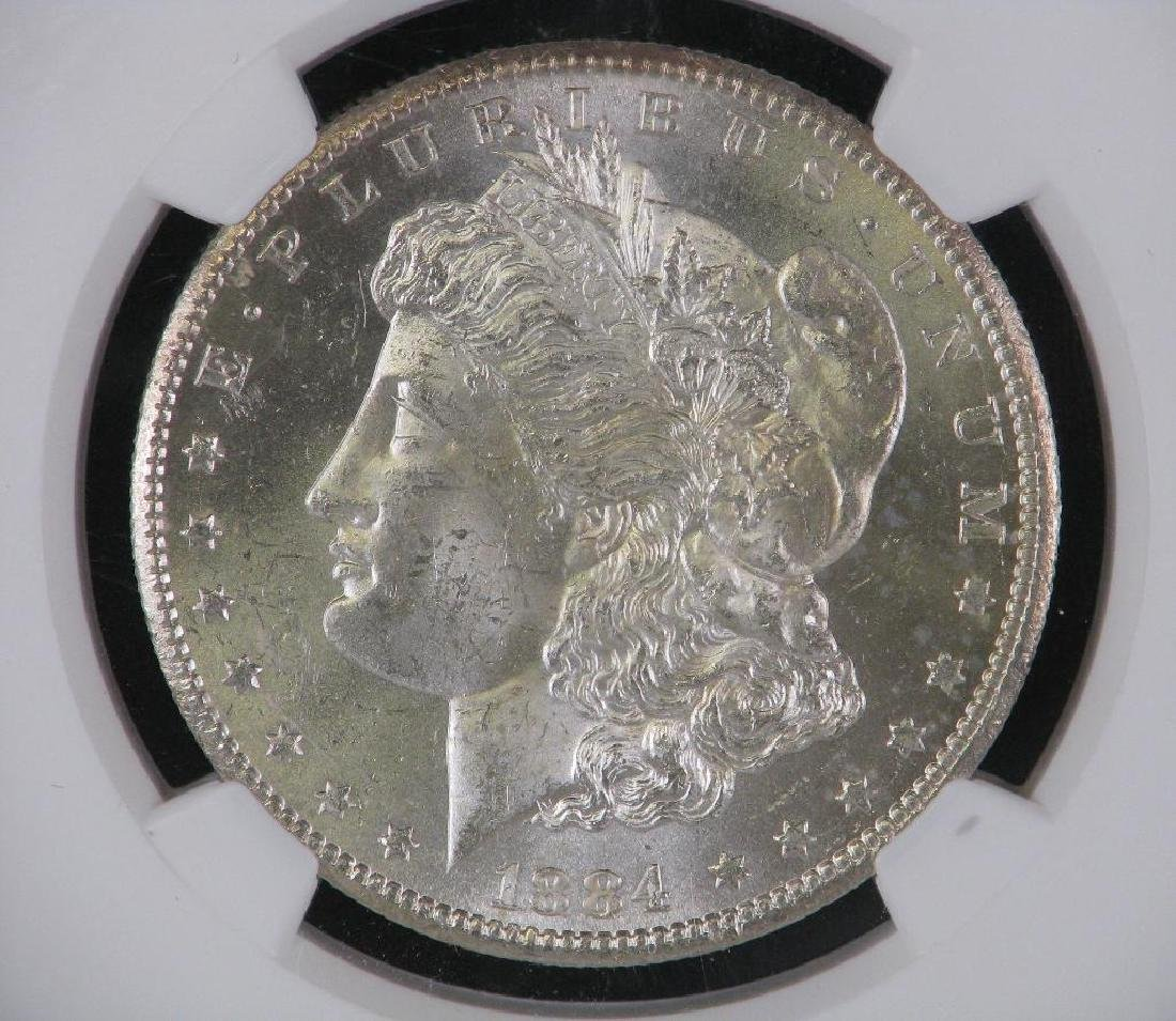 1884-CC Morgan Dollar NGC MS63 - 3