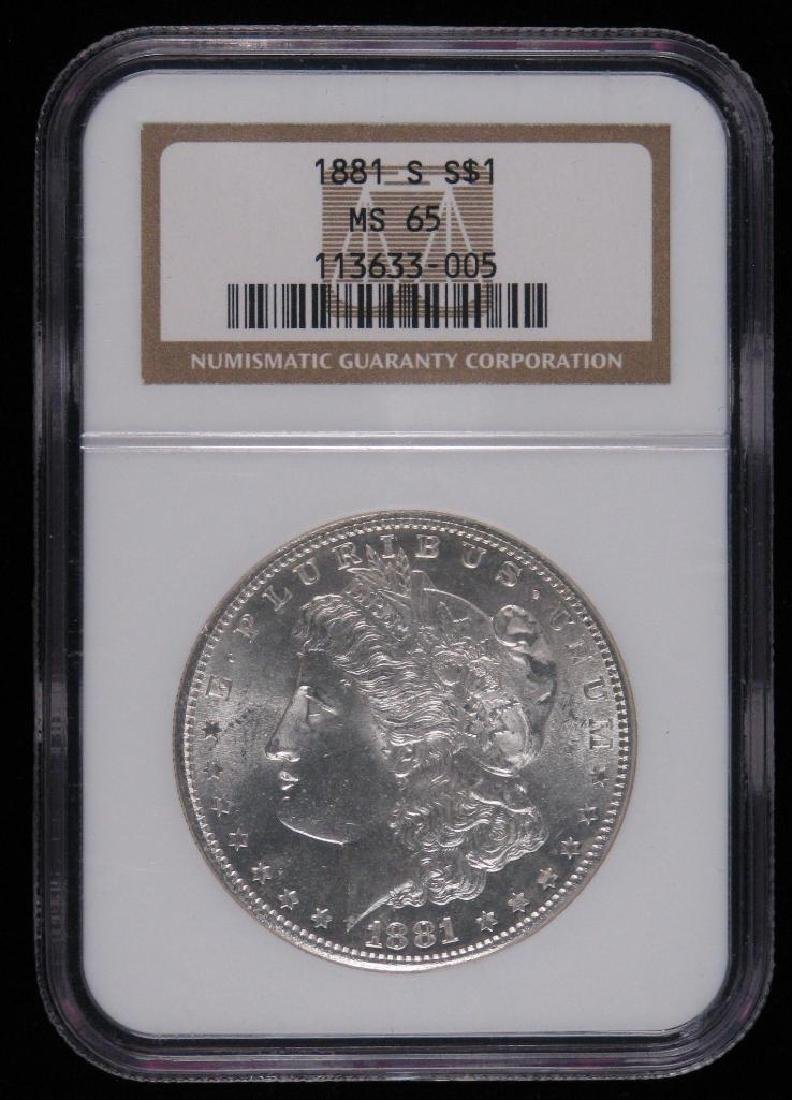 1881-S Morgan Dollar NGC MS65