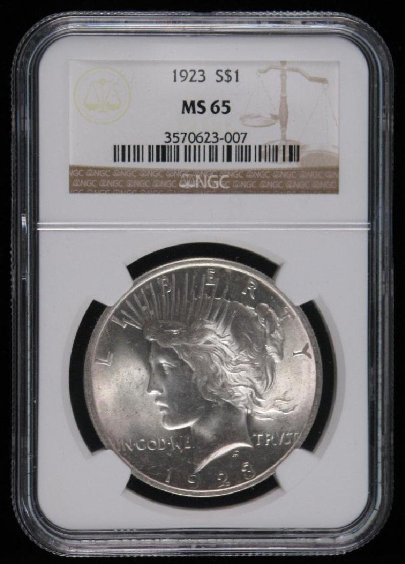 1923-P Peace Dollar NGC MS65