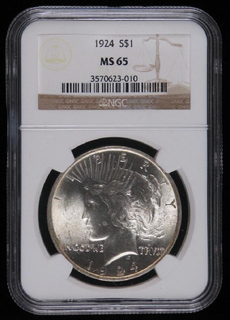 1924-P Peace Dollar NGC MS65