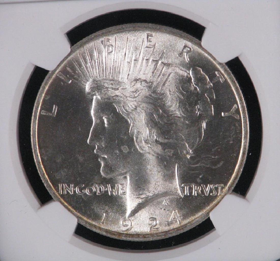 1924-P Peace Dollar NGC MS65 - 3