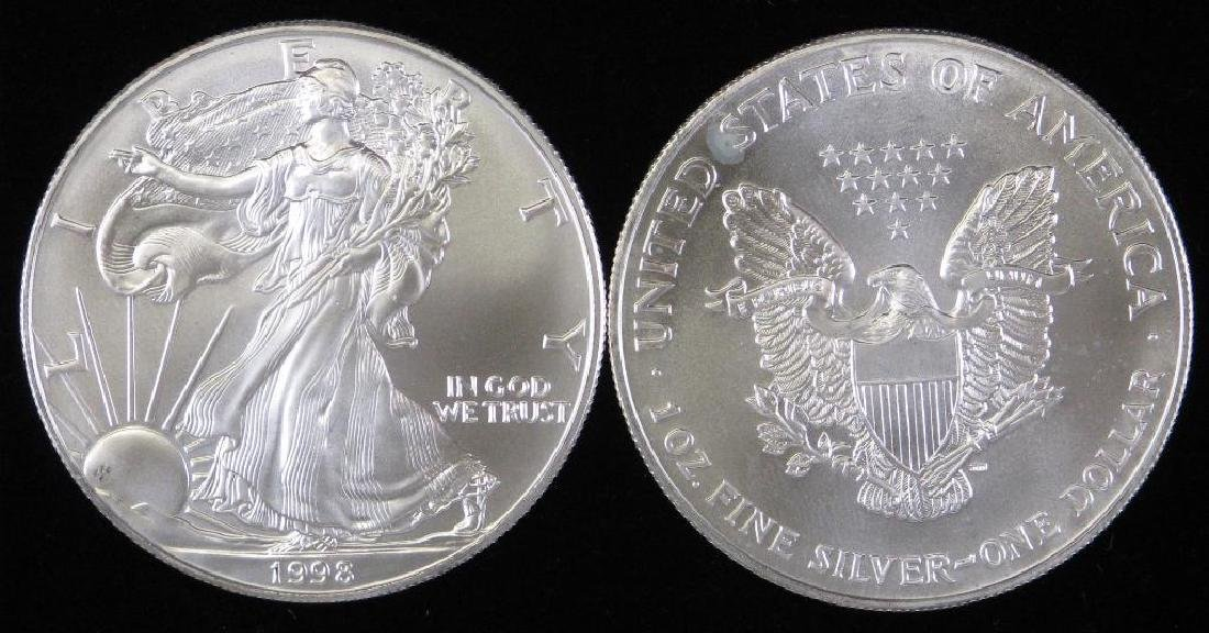 Lot of 20 : 1998 American Silver Eagles - 2