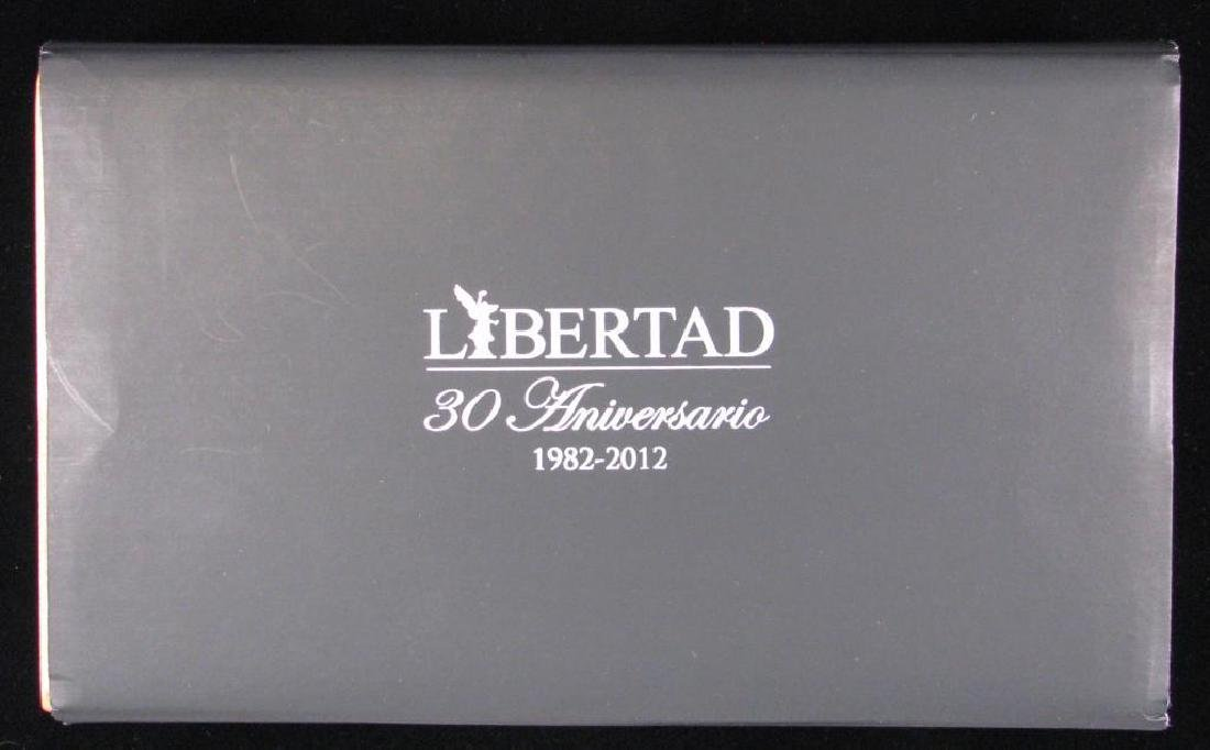 2012 LibertadÊ30th Anniversary Silver Set : 1 oz. and - 4