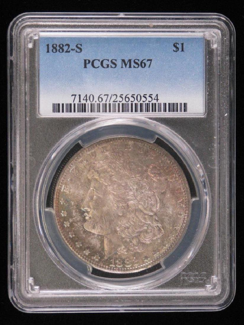 1882-S Morgan Dollar PCGS MS67